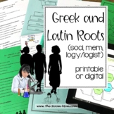 Vocabulary from Roots, soci, mem, logy, logist (distance learning option)