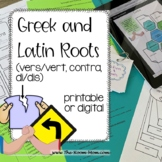 Vocabulary from Roots, vers, vert, contra, di (distance le