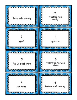 French Vocabulary Game - SCOOT janvier