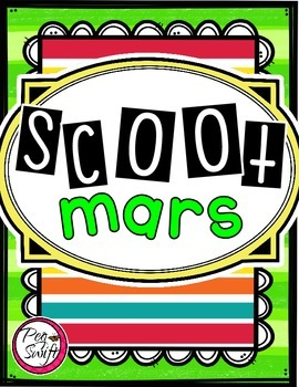 French Vocabulary Game - SCOOT mars