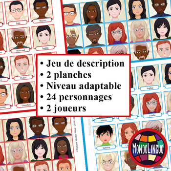 Vocabulary game in French/FFL/FLSL - Qui est-ce ? Guess who?