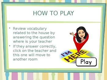Interactive ppt game: the house