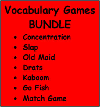 Vocabulary games in French Bundle