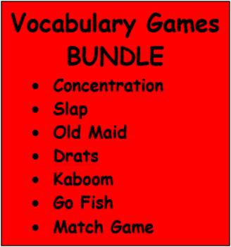 Vocabulary games in German Bundle