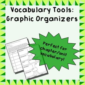 Vocabulary graphic organizer duo - 3-column & web
