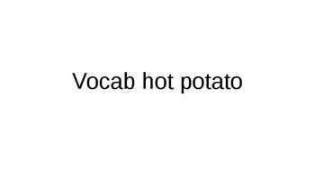 Vocabulary hot potato Unidad 3 Desafio 3 Santillana 3