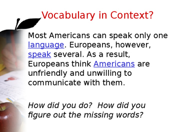 Vocabulary in Context