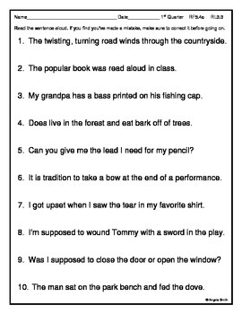 Vocabulary in Context Assessment - 5th grade Common Core ELA