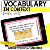 Vocabulary in Context BOOM Cards™