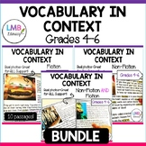 Vocabulary in Context Bundle-Non fiction and Fiction Reading Passages and Vocab