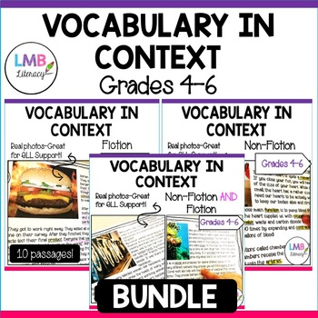 Vocabulary in Context Bundle-Vocabulary Activities and Reading Passages-Gr. 4-6