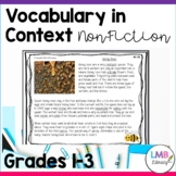 Vocabulary in Context-Grades 1-3, Non Fiction Reading Passages, Vocab, Writing
