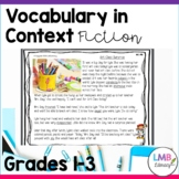 Vocabulary in Context Passages, Fiction Passages for Grades 1-3