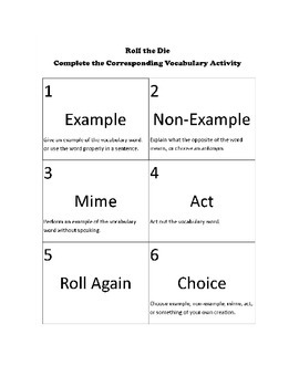 Vocabulary in Context -- Perform, Cartoon, Share -- Use AGAIN!