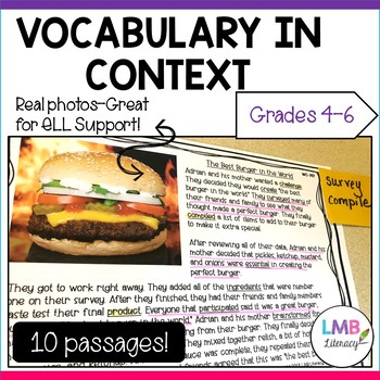 Vocabulary in Context-Reading Passages, Vocabulary, Writing Prompts