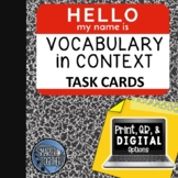 Vocabulary in Context - QR Code Option