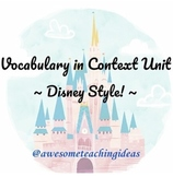 Disney Vocabulary Unit - Vocabulary in Context - Vocab ski
