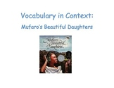 Vocabulary in Context for Mufaro's Beautiful Daughters
