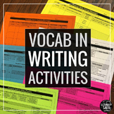 Vocabulary Words in Writing: 10 Practice Activities to Deepen ANY Word List!