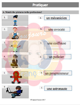Vocabulary: le professions