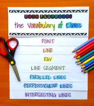 Vocabulary of Lines Flip Book