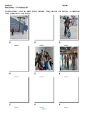 Spanish 1; Action verbs; Worksheet #1; Fill in using pictures