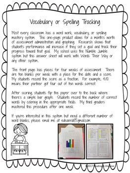 Vocabulary or Spelling Graph