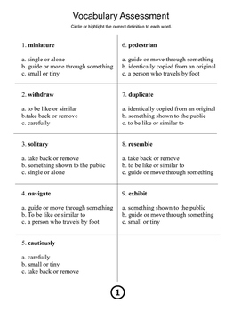 Vocabulary pack 1: 2 weeks of vocabulary work (dysgraphia/dyslexia friendly)