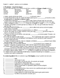 Vocabulary practice sheet - Imagina ch. 2 (Spanish)