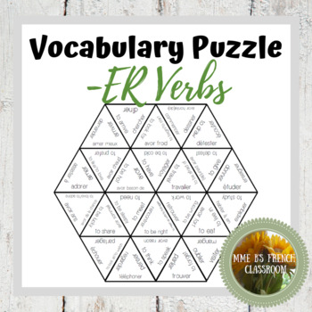 Vocabulary puzzle: verbs (D'accord 1 2B)