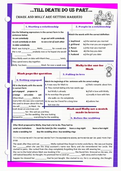 Vocabulary related to relationship and marriage
