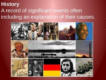 Vocabulary slides - history, community, animism