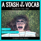 Vocabulary task cards: A Stash of New Vocabulary