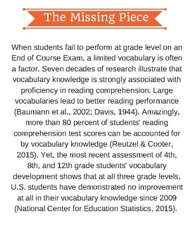 Vocabulary & the STAAR English I and II EOC Tests