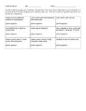 Vocabulary tic-tac-toe study tool