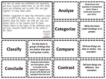 Comprehension of Test Questions and Directions:Essential Vocabulary