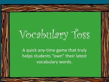 Vocabulary toss