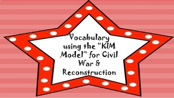 Vocabulary using the K.I.M. Model-Civil War and Reconstruction