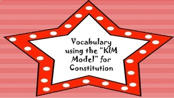 Vocabulary using the K.I.M. Model (Constitution)