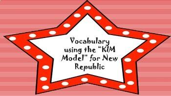 Vocabulary using the K.I.M. Model-New Republic