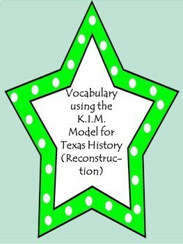 Vocabulary using the K.I.M. Model-Reconstruction in Texas