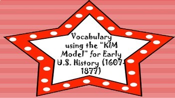 Vocabulary using the K.I.M. Model
