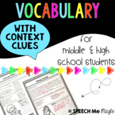 Vocabulary with Context Clues