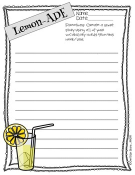 Vocabulary with Lemon-ADE