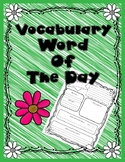 Vocabulary word of the day!