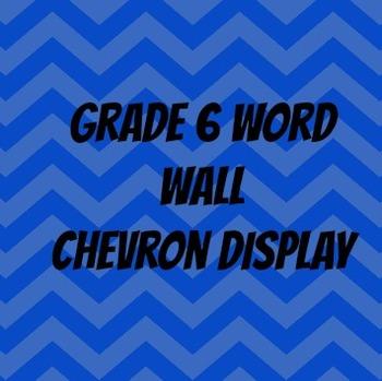 Vocabulary word wall Grade 6