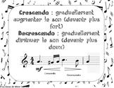 Vocabulary words Music FRENCH Mots de vocabulaire de musique