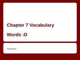 Vocabulary words for ESL