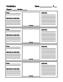 Vocabulary worksheet: Any Subject: 4 words: My favorite!