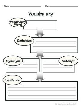 Vocabulary worksheets Packet
